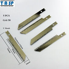 "TASP 5PC 76mm 3"" Diamond Jig Saw Blades for Granite Cutting with U-shank Grit 50"