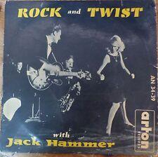 """Jack Hammer Rock & Twist 1961 Israel Israeli 10"""" -Johnny Hallyday Mispressed P/S"""