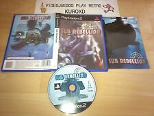 PLAY STATION 2 PS2 SUB REBELLION COMPLETO PAL ESPAÑA