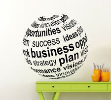 Business 3D Ball Wall Decal Motivation Office Vinyl Sticker Home Mural (232xx)
