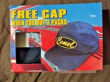 CAMEL CIGARETTE HAT Cap NEW SEALED Package VINTAGE Blue/Gold Adjustable Slide