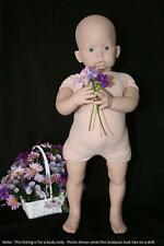 """Reborn Doe Suede Body for 3/4 Limb Standing Toddler 30"""" Baby Doll 6569"""