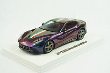 1/18 BBR FERRARI F12 BERLINETTA CHAMELEON WHITE DELUXE LEATHER BASE LE 10 PC MR