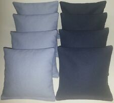 SET OF 8 ALL WEATHER LIGHT BLUE & NAVY UNC CORNHOLE BEAN BAGS FREE SHIPPING!!