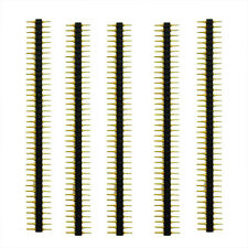 5 Pcs Plastic 2.45mm Pitch 40 Position Single Row Round Male Pin Header  LW SZUS