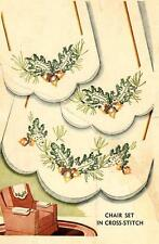Vintage Embroidery Transfer repo 7224 Pinecones Branches for Chair set linens