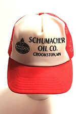 Trucker hat baseball cap Amoco Schumacher Oil Co. Crookston, MN,snap back