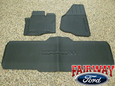 12 thru 16 Super Duty F250 F350 OEM Genuine Ford Rubber Floor Mat 3-pc Crew Cab
