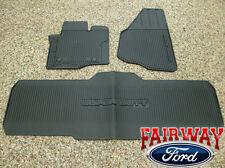 12 thru 16 Super Duty F250 F350 OEM Genuine Ford Rubber Floor Mat 3-pc Crew Cab
