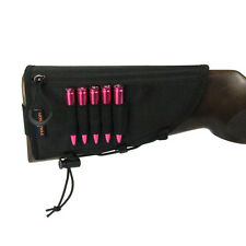 Tourbon Non-slip Rifle Butt Stock Cheek Piece Rest Pad 5 Ammo Carrier Adjusted