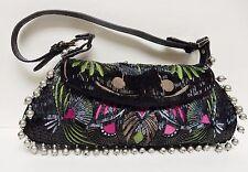 TOSCA BLU ITALY Handbag Purse Shoulder Clutch Evening Bag Beaded Embroidery Stud