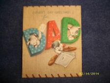 "Vintage Fathers Day Card, American Greetings 10 F6948 / Puppies ""For Dad"""