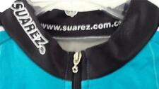 Suarez Bike Shirt Large Turquoise Black Zip Front Back Pocket Zip Colombia Made