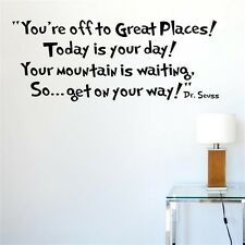 Get on Your way Dr.Seuss Quote decal Wall Sticker Home Wall Words Letters Decor