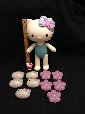 "Lot Of Hello Kitty 12"" Doll Mini Figure & String Light Covers"