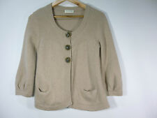 Repeat pure cashmere chunky beige cardigan size S