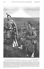 1896 PIPE MAJOR REITH AND CORPORAL PIPER REITH OF  THE LONDON SCOTTISH