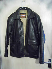 VINTAGE 70'S CIRO CITTERIO LEATHER HIGHWAYMAN STYLE MOTORCYCLE JACKET SIZE M