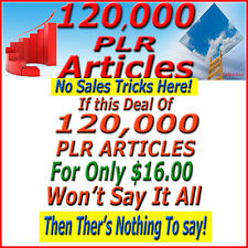 120,000 PLR Articles Private Label Rights. 550 Niches *