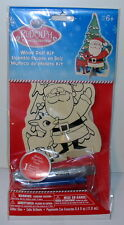 """Rudolph Wood Doll Kit-With Markers and Glitter Glue-Kids Crafts-6+ 7"""" by 4"""""""