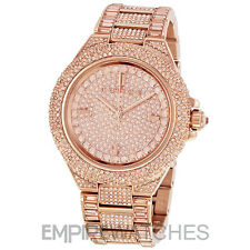 *NEW* MICHAEL KORS LADIES CAMILLE CRYSTAL ROSE GOLD WATCH - MK5862 - RRP £499