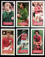 Lot of 6 NOTTINGHAM FOREST Score UK football trade cards O'NEILL GEMMILL SHILTON