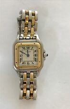 CARTIER-PANTHERE BEAUTIFUL TWO-TONE STAINLESS STEEL 18K-YELLOW-GOLD-22MM-WATCH