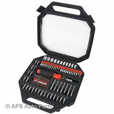 101pc SCREWDRIVER & Bit Set Reversibile Cricchetto driver Phillips Pozi Torx Hex Nuovo