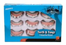Pack of 9 Teeth Fangs Halloween Scary Vampire Assorted Fancy Dress