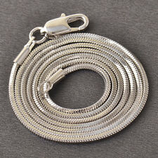 "17.7"" Fashion Womens White Gold Filled Snake Mystic Chain Necklace Free Shipping"