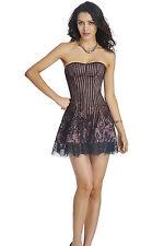 Lace-up Back Corset Top Burlesque Moulin Rouge Fancy Dress Bridal Wedding Dress