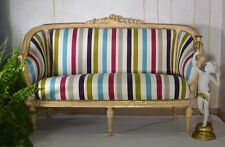CHAISELONGUES  BAROCK SITZBANK RECAMIERE SOFA WEISS GOLD  ROKOKO GLAMOUR