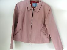 Leather Jacket women Fitted coat Edge Italian Fashions size 3X Pink