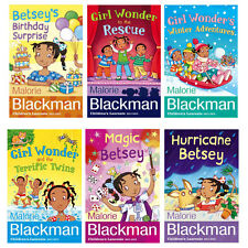 Betsey Biggalow & Girl Wonder Collection Malorie Blackman 6 Books Set Magic Bets