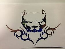 pit bull sticker pitbull american bully decal sticker CHROME *B163*