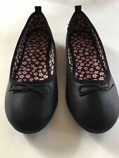 NWOB Girls Youth Black Ballet Flats Patent Faux Leather H&M Shoes sz 1.5