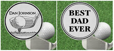 Personalized Golf Ball Marker for Fathers Day, Best Dad Ever, Steel Engraved
