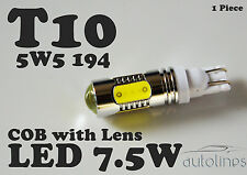 1 x T10 CREE 7.5W LED W5W 12V WHITE Parker Wedge Side Light Bulbs Car Globes