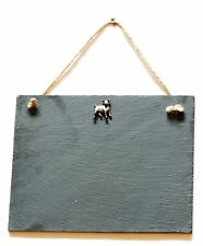 Jack Russell Slate Chalk Notice Board  Messages,Tally Charts Shooting Gift