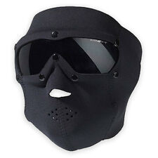 SWISS Eye SWAT IN NEOPRENE FULL FACE MASK Pro W / BALLISTIC OCCHIALI SOFTAIR NERO