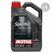 Motul Specific 506 01, 506 00 - 0w-30 Full Synthetic Engine Oil 4 x 5 Litres 20L
