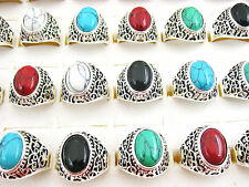 Wholesale Jewelry Lots 5pcs Fashion Silver P Turquoise Rings free shipping