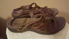 Merrell Women's Strappyy Sandals Agave Size 9M  Brown Leather