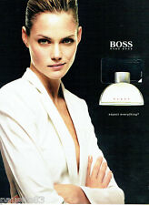 PUBLICITE ADVERTISING 066  2002  Hugo Boss parfum femme  Woman