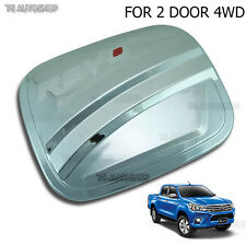 Chrome Oil Fuel Cap Door Tank Cover For Toyota Hilux Revo Sr5 M70 2Dr 4x4 2015