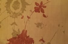 TYLER GRAPHIC Persian Floral Red Green Linen New Remnant