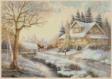 Cross Stitch Chart - Christmas Cottage Winter Scene No 228 free uk p&p....