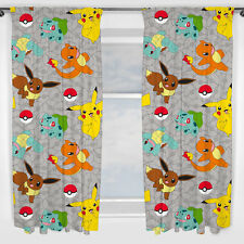 Pokemon Gardinen Pikatchu Catch Kinder Kids Pokemons Vorhänge 137x168 Poke neu