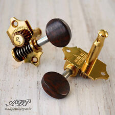 SCHALLER TUNERS GRAND TUNE 3L+3R Style WAVERLY 1:18 SNAKEWOOD KNOB GOLD Export