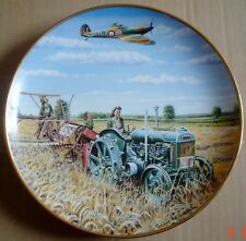 Danbury Mint Collectors Plate HARVEST 1940 From FARMING THROUGH THE WAR YEARS
